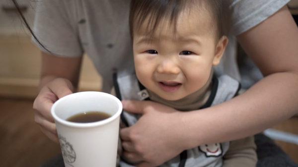수정과 처음 마시는 아기